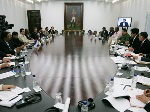 Comisión Política del ALBA que valoró la situación en Haití