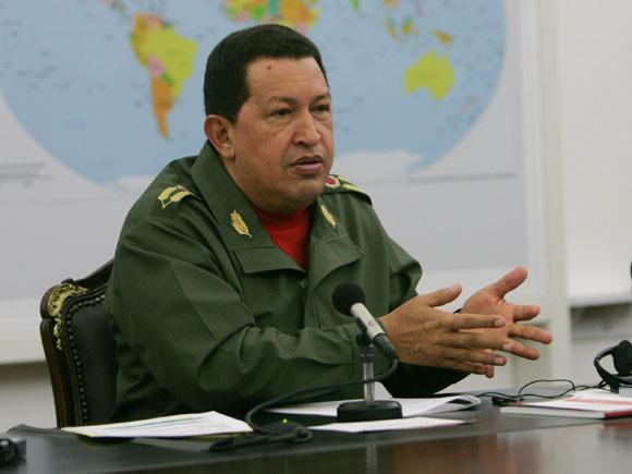 Hugo Chávez en la Comisión Política del ALBA que valoró la situación en Haití.