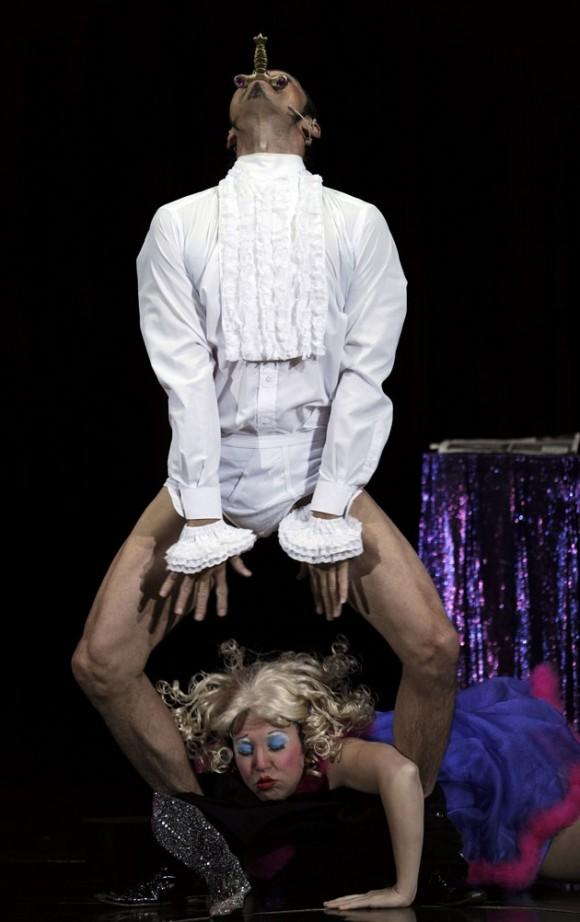 Ensayo del Circo del Sol en Londres. Foto: AFP