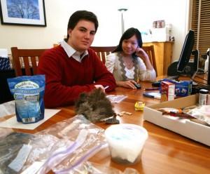 Matt Cost, 18, y Brenda Tan, 17, estudiantes