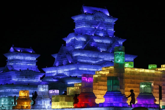 Festival de hielo de Harbin en China. Foto AFP