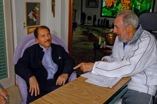 Encuentro de Fidel Castro y Daniel Ortega