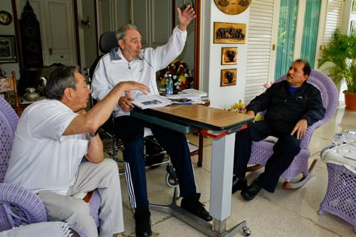 Encuentro de Fidel Castro, Raúl Castro y Daniel Ortega