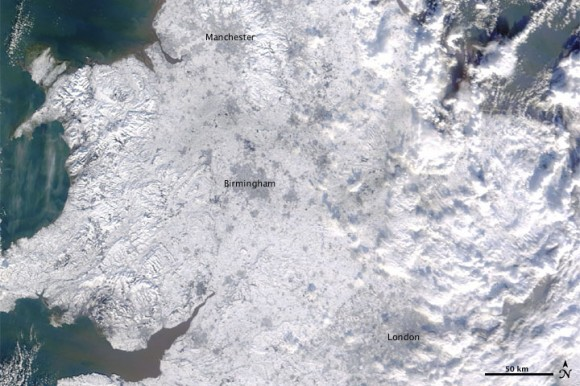 Gran Bretraña bajo la nieve