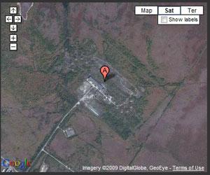 """Imagen en Mapa de Google de la localización del """"Pájaro Carpintero ruso"""""""