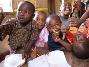 Niños en escuela en Santiago
