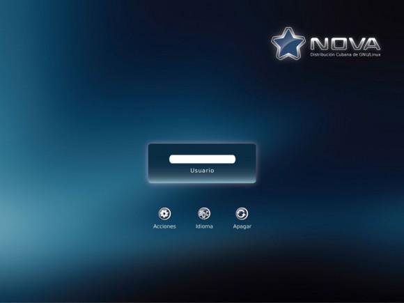 Nova Linux - Login