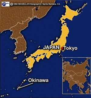Mapa Japón, Okinawa