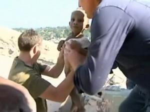 Rescate de bebé en Haití