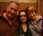 José María Vitier, Martirio y Silvia Rodríguez en los Estudios Abdala. (Foto: Cubadebate)