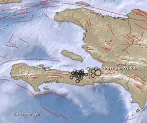 El terremoto de Haití y sus réplicas según el satélite de la NASA
