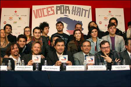 Presentación del disco Voces por Haití