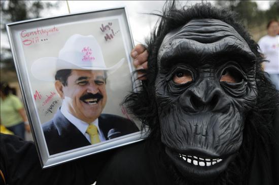 Seguidores del Presidente Manuel Zelaya. Foto: EFE