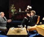 Reinaldo González (I) en entrevista con Amaury Pérez (D). Foto: Peti