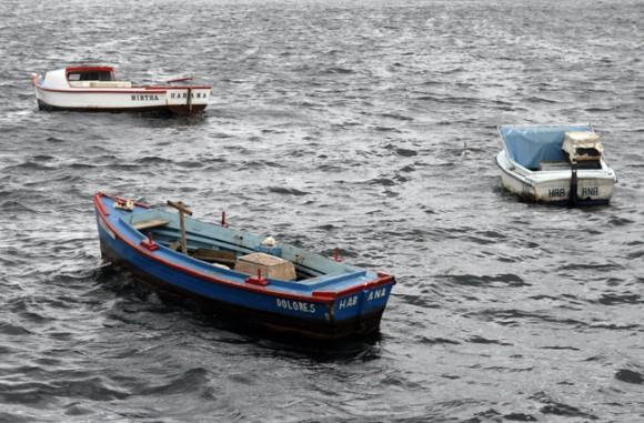 Botes en la Bahía de La Habana Foto: Roberto Suárez