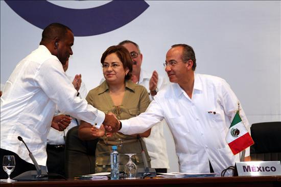 Felipe Calderón en Cancún.