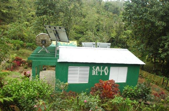 Esta es una casa diferente. Casa de Video en medio de las históricas montañas de la Sierra Maestra. Foto: Kaloian
