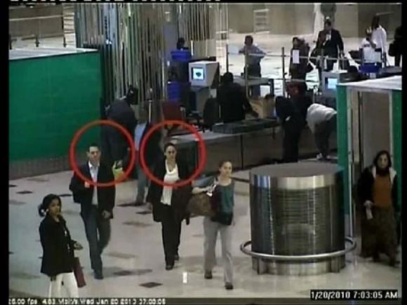 Imagen de un video de seguridad donde aparecen algunos sospechosos - Foto: AFP Photo