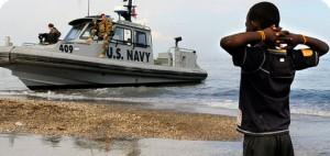 Haití frente a la abrumadora presencia norteamericana Foto: AFP