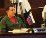 Hugo Chávez en la Cumbre de la Unidad, México. Foto: ABN