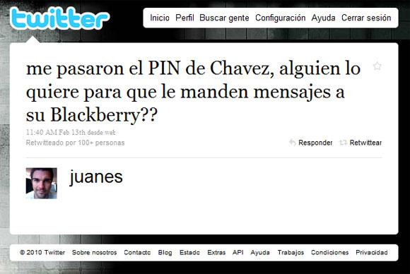 Juanes Twitter contra Chávez