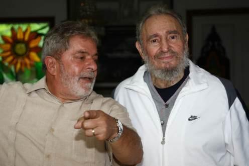 Lula y Fidel