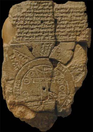 Primer mapa babilonio del mundo