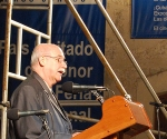 El escritor Reinaldo González en la inauguración de la Feria del Libro de La Habana. Foto: La Jiribilla