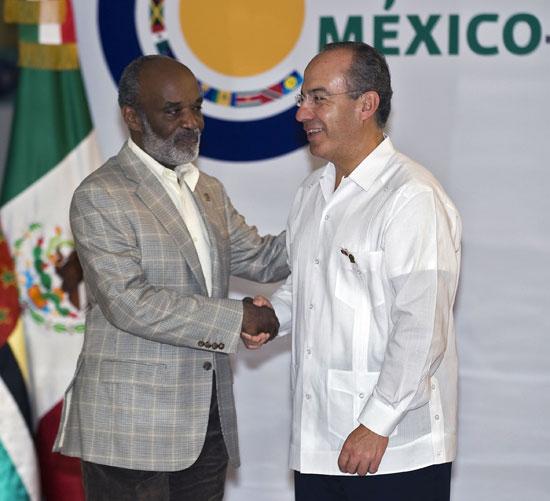 René Preval en Cancún