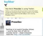 Twitter del Secretario de Prensa de Obama