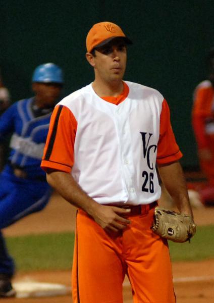 Luis Borroto, lanzador abridor por el equipo de Villa Clara