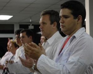 La Brigada médica cubana en Chile.