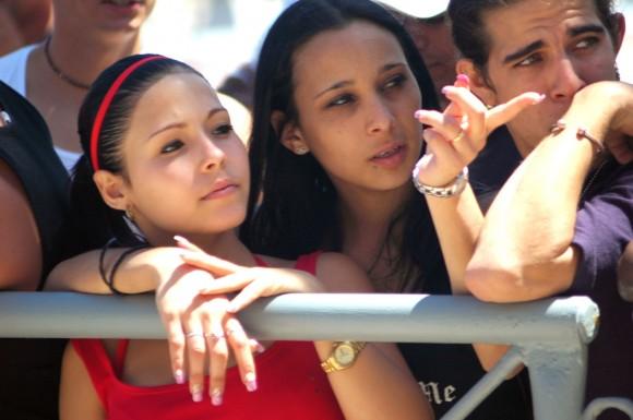 Ensayos Calle 13 en la Tribuna Antimperialista, Cuba Foto: Kaloian