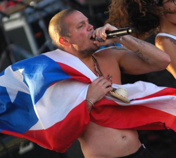 René Pérez en el concierto en La Habana. Foto: Kaloian