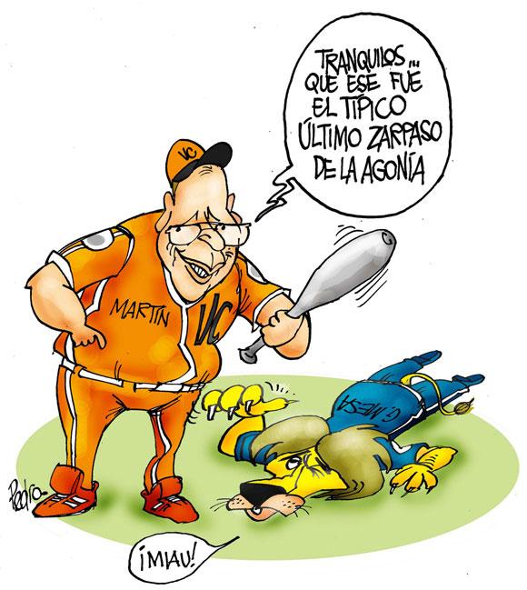 Pasión beisbolera en Caricaturas
