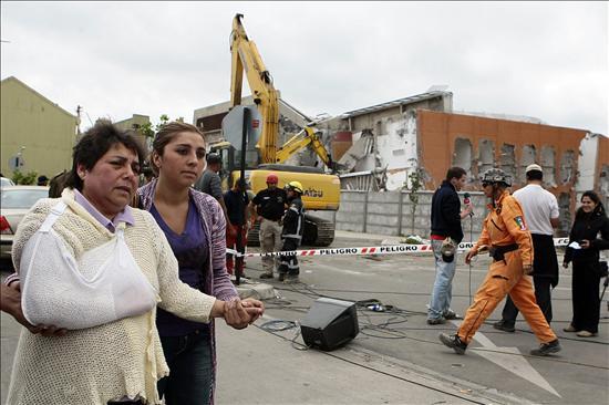 Terremoto en Chile. Foto: EFE