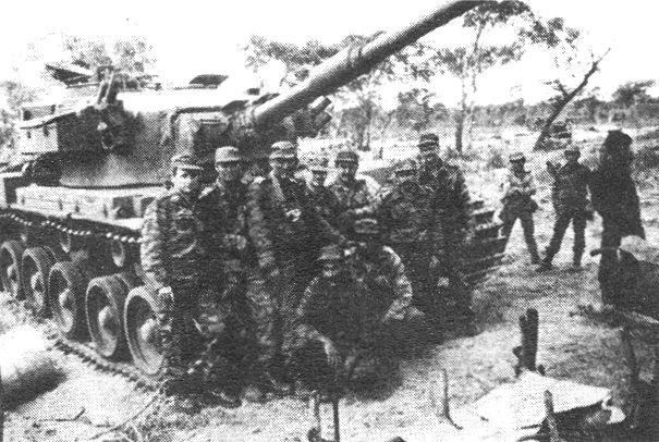 Combatientes cubanos en Cuito Cuanavale, Angola, marzo de 1988