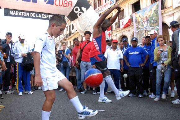 Una imagen de la XII Edición del maratón de la esperanza Terry Fox, Cuba 2010.