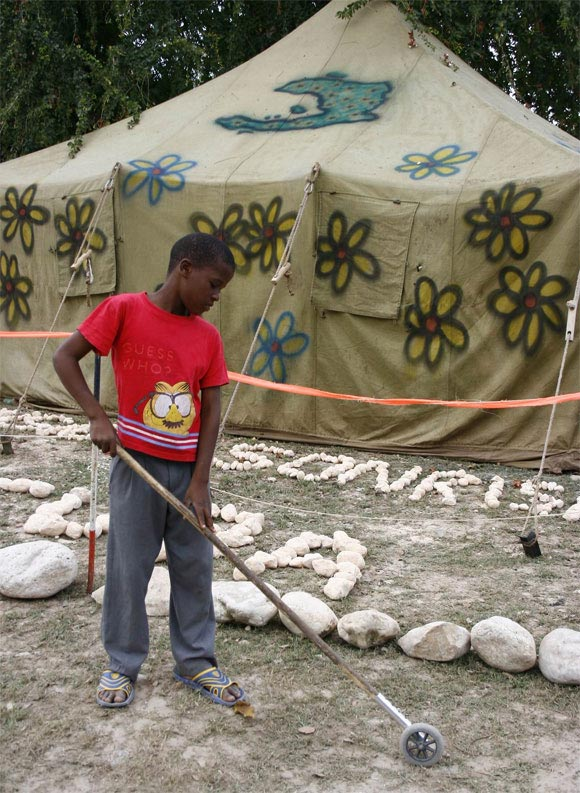 Integrantes de la Brigada Marta Machado que se encuentran en Haití. Foto: Damien Barroso Vega