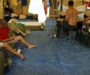 Integrantes de la Brigada Martha Machado que se encuentran en Haití. Foto: Damien Barroso Vega