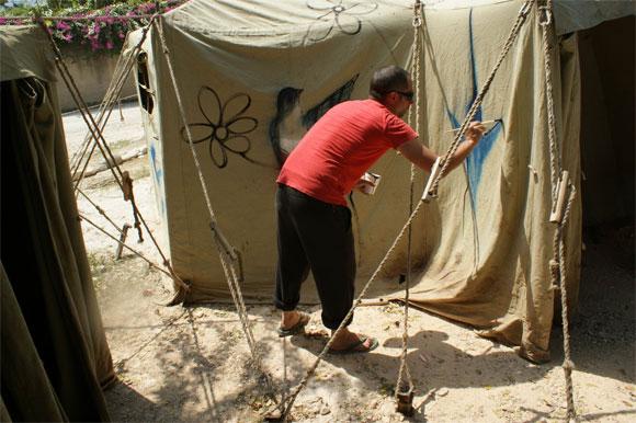 Integrante de la Brigada Martha Machado que se encuentran en Haití. Foto: Damien Barroso Vega