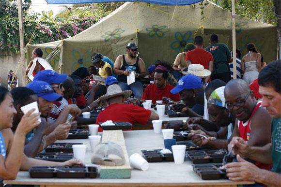 Integrantes de la Brigada Marta Machado en Haití. Foto: Damien Barroso Vega