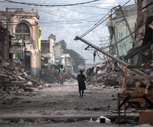 Haití desvastado. Foto de archivo