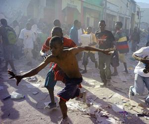Supervivientes del terremoto de Haití