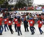 Brigada artística cubana en Campo de Marte, Puerto Príncipe