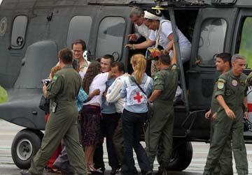 Liberación de rehén en Colombia