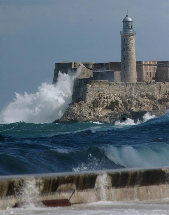 Penetraciones del mar y frío en La Habana