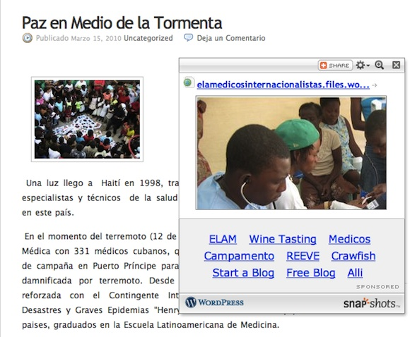 Blog de médicos de la ELAM en Haití