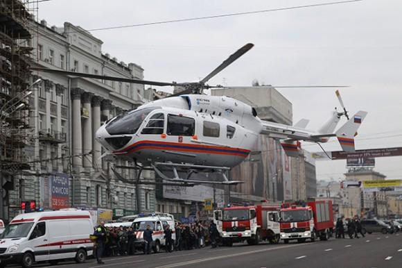Atentado en Moscú. Foto: AFP