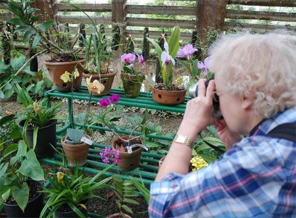 Visitante en el Orquideario de Soroa en Pinar del Río, uno de los sitios de visita obligada por su belleza. AIN Fotos: Abel Padrón Padilla